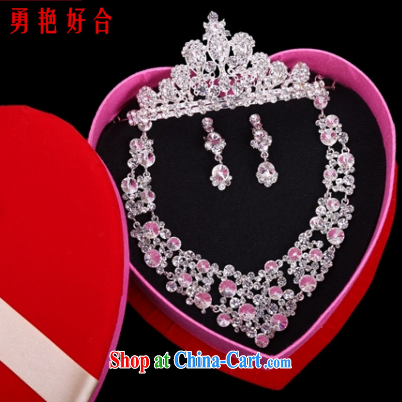 Yong-yan and 2015 new Crown necklace earrings A 18 white