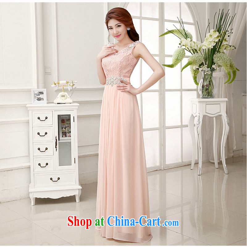 Optimize Hung-minimalist wedding dresses new 2014 Ms. bride shoulders red marriage toast XS serving 658 meat pink XXL