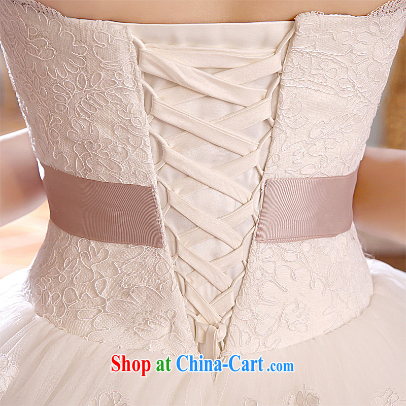 Honeymoon bridal wedding dresses 2015 new lace tie-wedding-tail wedding white XL, Honeymoon bridal, online shopping