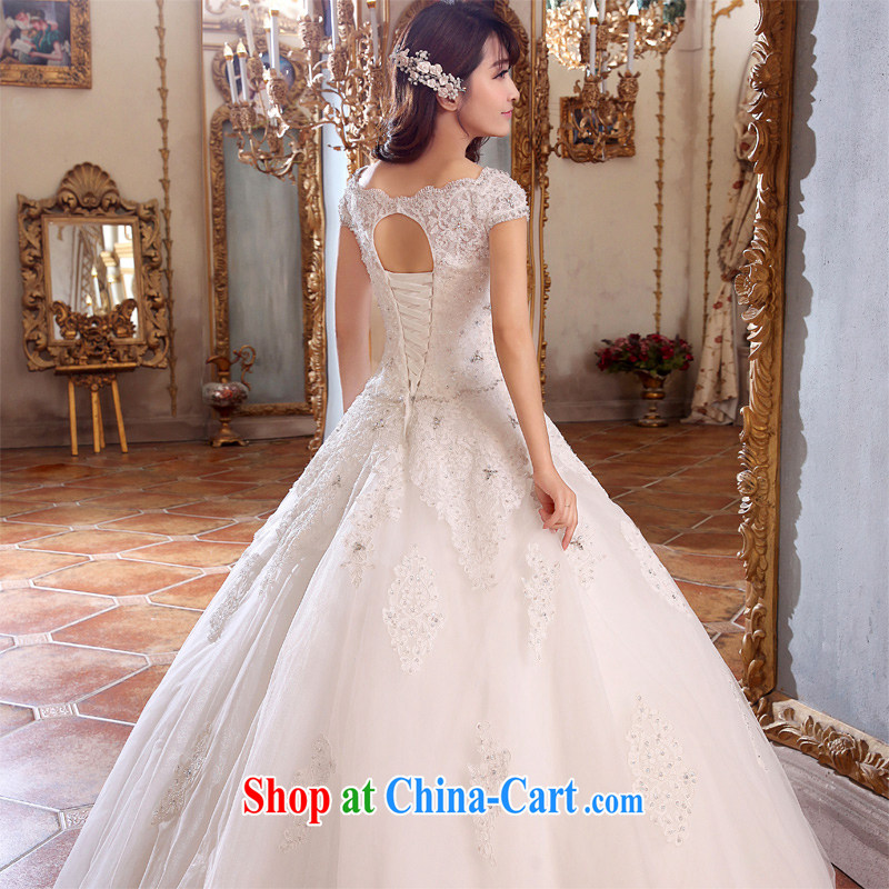 Honeymoon bridal wedding dresses 2015 new dream lace wedding with Korean-style wedding white XL, Honeymoon bridal, shopping on the Internet