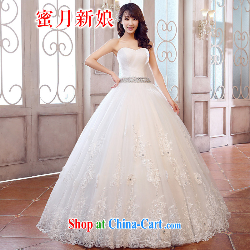 Honeymoon bridal wedding dresses 2015 new wedding dresses new sexy V wipe for chest wedding sweet Princess wedding white XL