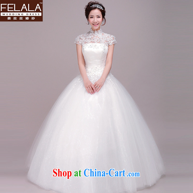 Ferrara, Ting, wedding dresses 2015 new Korean version with a field package shoulder lace retro wedding female XL _2 feet 2_