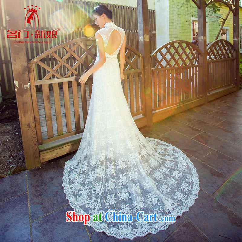 The bride's wedding-tail 2015 new Korean crowsfoot lace Korean wedding dresses 871 M