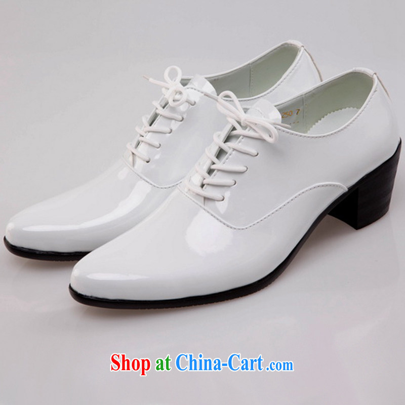 Rain was Yi bride groom increase men's shoes groom wedding shoes men shoes wedding photo building shoes picture show men's shoes white 44