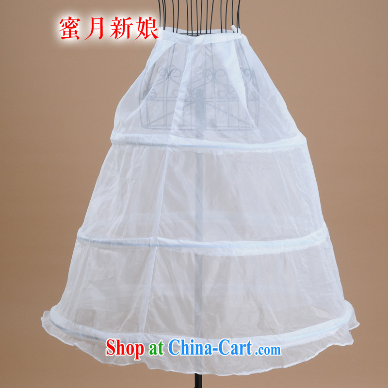Honeymoon bridal wedding dresses the mandatory accessories 3 strands of the wire brace skirt folds wedding dress party white