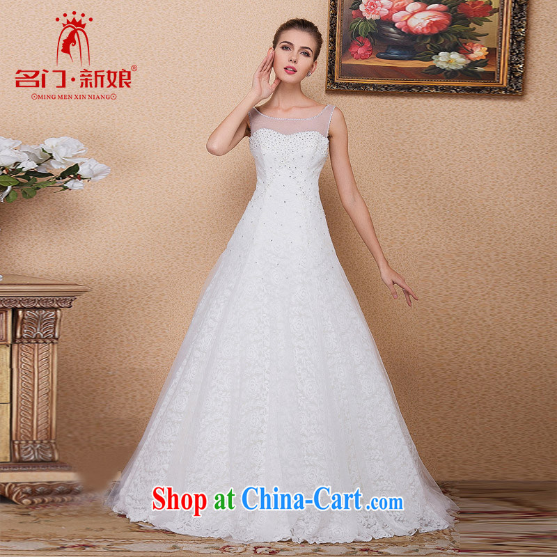 The bride's 2015 new wedding Chic simplicity wedding a Field shoulder wedding 560 L