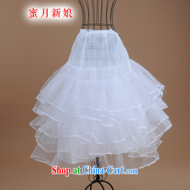 Honeymoon bridal wedding dresses the mandatory accessories high quality 4-Layer yarn bone skirt spreader wedding dress party white