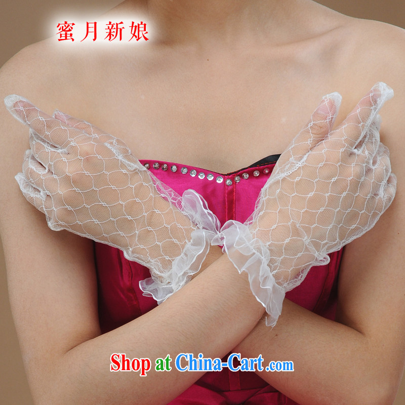 Honeymoon bridal wedding gloves bridal gloves wedding dresses accessories gloves bridal supplies white