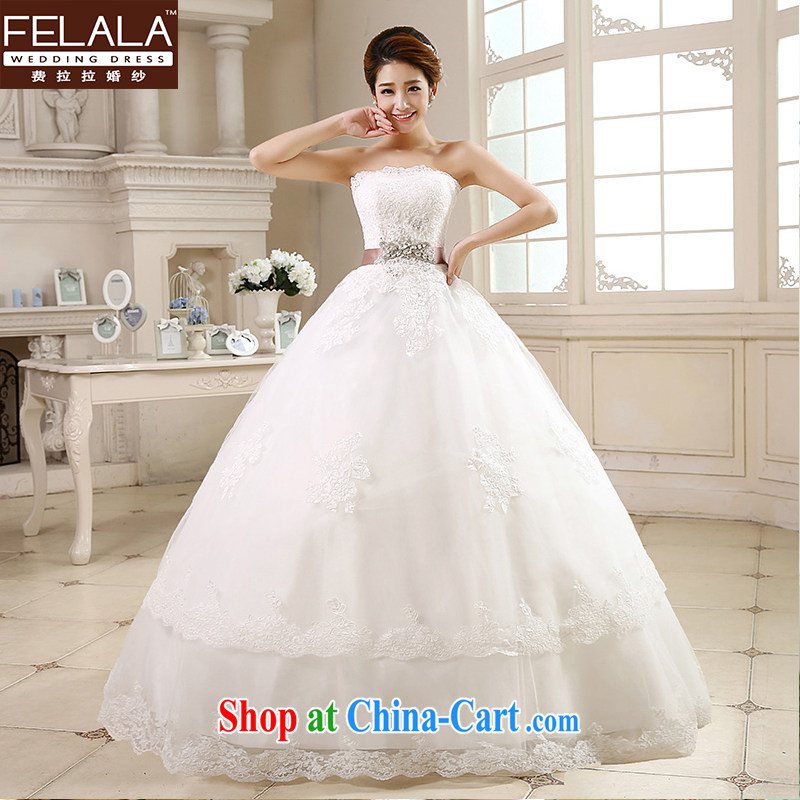 Ferrara 鈾� 2015 new wedding dresses with bare chest Korean-style wedding the waist graphics thin wedding summer XL _2 feet 2_