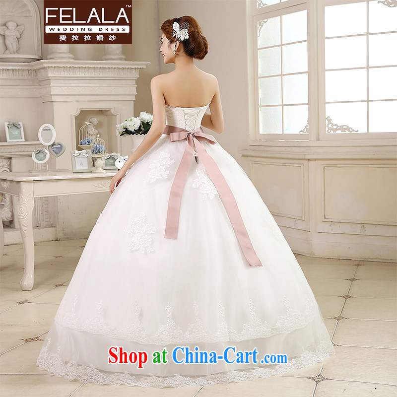 Ferrara 鈾� 2015 new wedding dresses with bare chest Korean-style wedding the waist graphics thin wedding summer XL (2 feet 2), Ferrara wedding (FELALA), and, on-line shopping