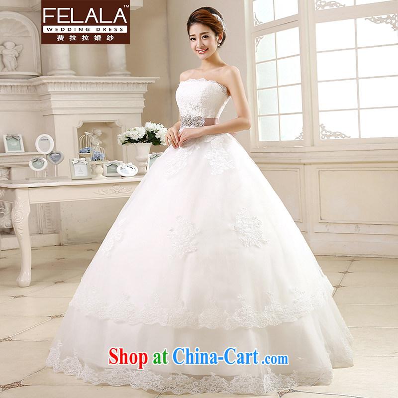 Ferrara ♀ 2015 new wedding dresses with bare chest Korean-style wedding the waist graphics thin wedding summer XL (2 feet 2), Ferrara wedding (FELALA), and, on-line shopping