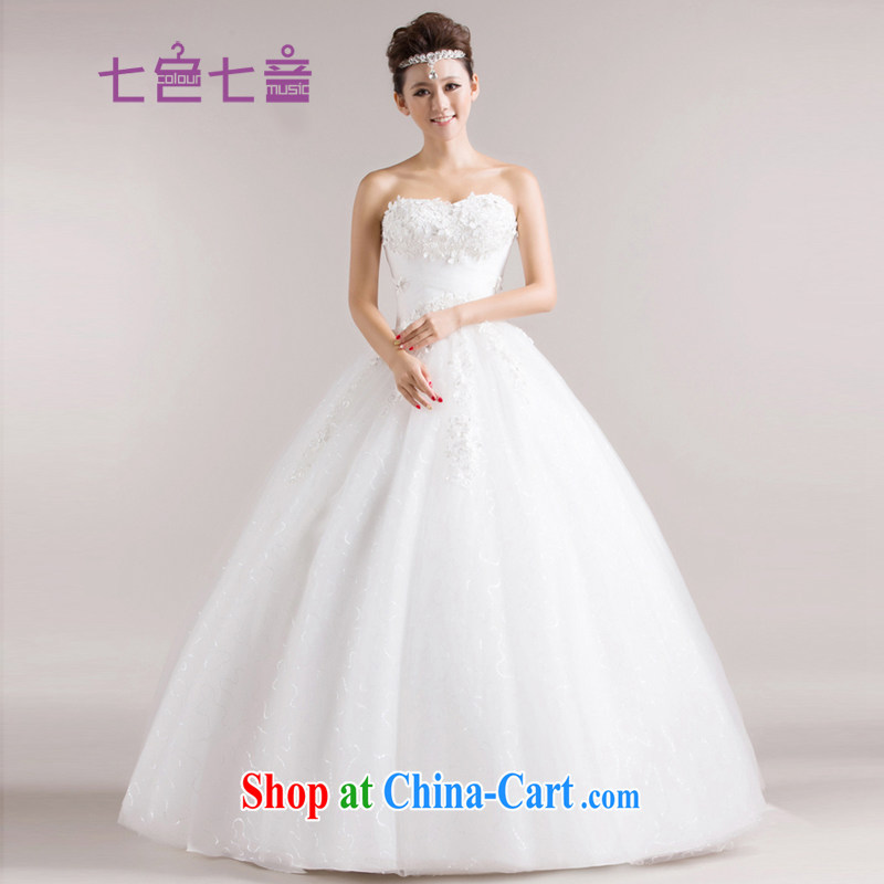 7 color 7 tone Korean version 2014 new marriages erase Chest straps, with the flowers, wedding dresses H 012 white tailored