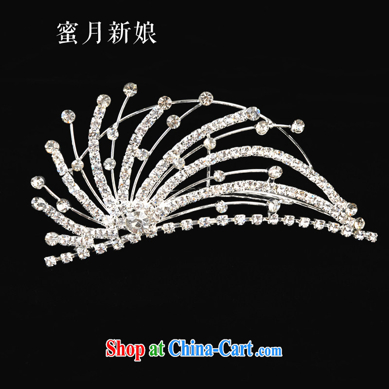 Honeymoon bridal bride Crown bridal jewelry bridal headdress bridal hair accessories the comb-style Crown white
