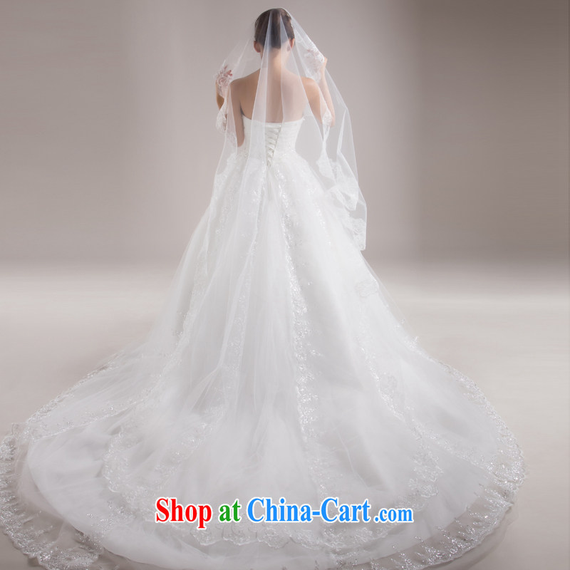 7 color 7 tone 2015 new ultra-long 3M lace and legal marriages wedding accessories bridal headdress and yarn T 001 white are code, 7-Color 7 tone, shopping on the Internet