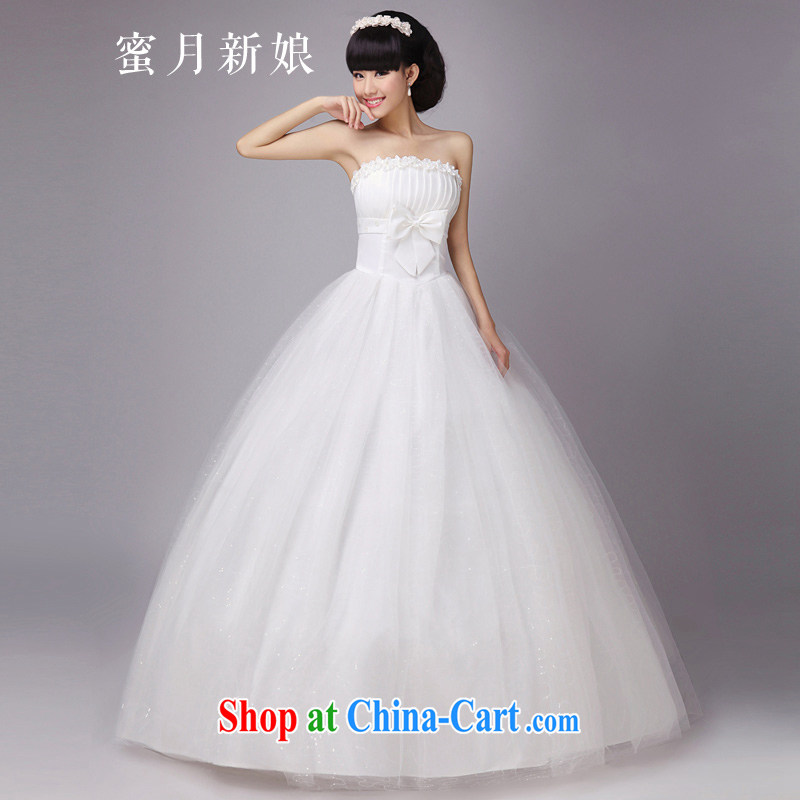 Honeymoon bridal wedding Pearl flower bridal wedding dresses wedding dresses new 2015 sweet Princess wedding white XXL