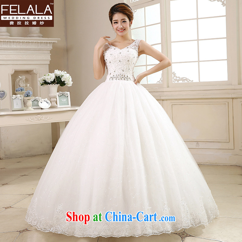 Ferrara ? wedding dresses 2015 new Korean sweet Deep V collar shape shaggy yarn bridal Wedding Video thin XL (2 feet 2)