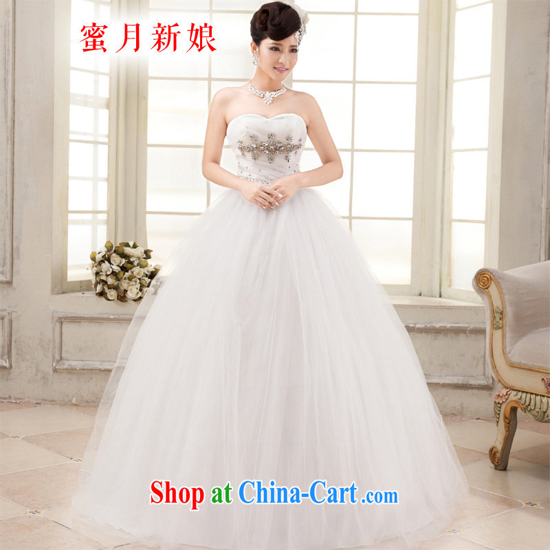 Honeymoon bridal wedding dresses 2015 new parquet drill wiped chest wedding Korean video thin straps Princess wedding white XXL