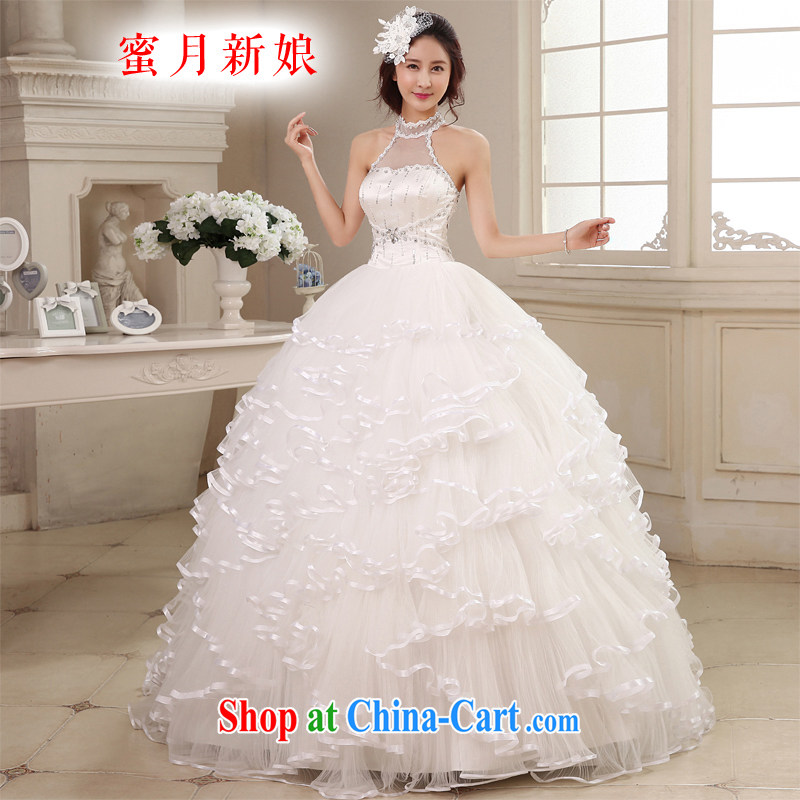 Honeymoon bridal 2015 new Korean Princess style is also wedding shaggy with tie wedding white XL