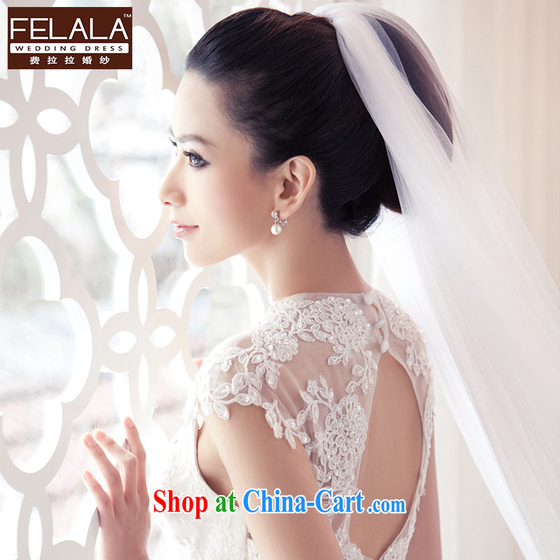 Ferrara wedding wedding and legal Korean-style wedding dresses and yarn 4M dragging long head dresses accessories