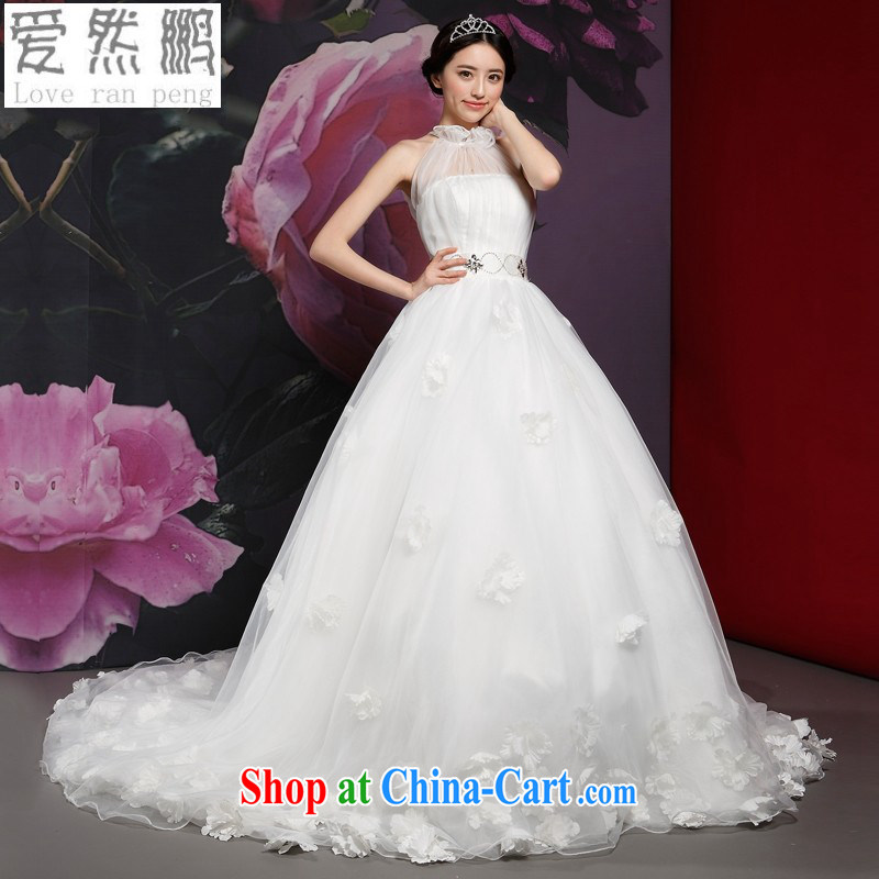 Love so Peng-wedding-tail-also-dress new 2014 summer elegant bridal lace, customer to size up to do not be returned.
