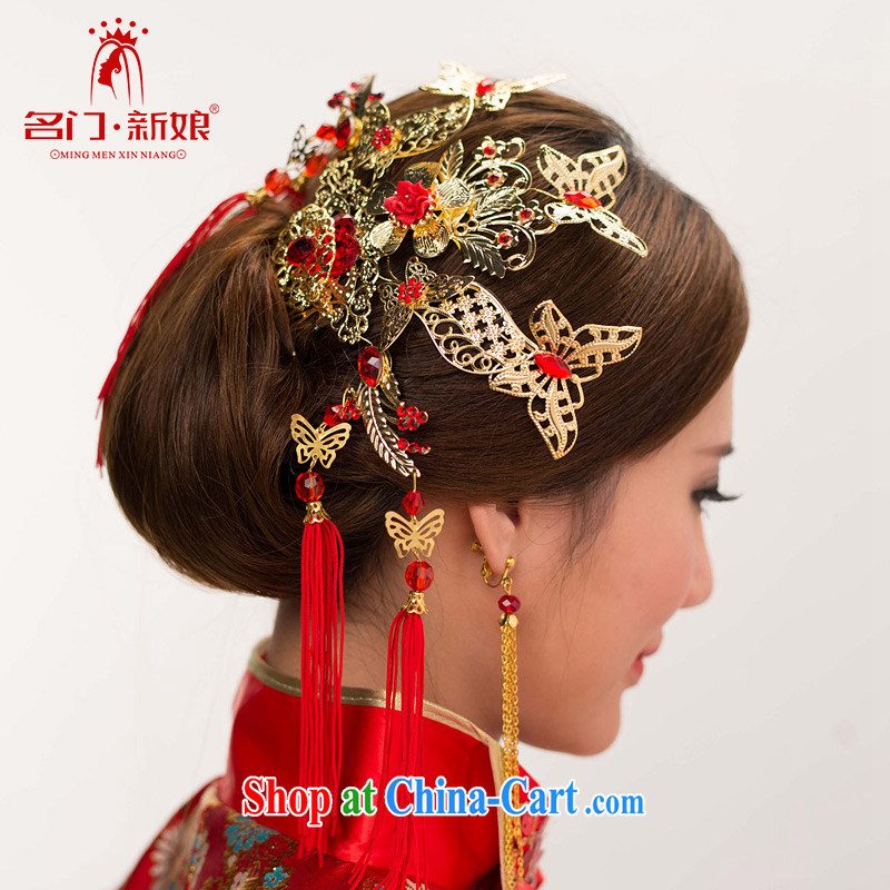 The bride's stylish classic head-dress-su Wo service head-dress bridal headdress butterfly-su Kit 132