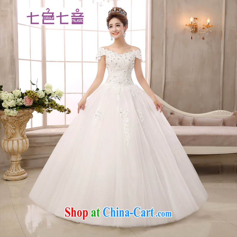 7 color 7 tone Korean version 2015 new strap with simple code graphics thin lace field shoulder wedding dresses H 021 white L