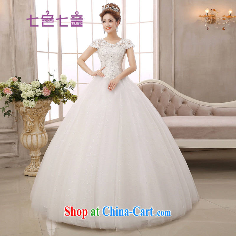 7-Color 7 tone Korean version 2015 new paragraph to align with the Code graphics thin retro Palace lace hunsha wedding dresses H 023 white M