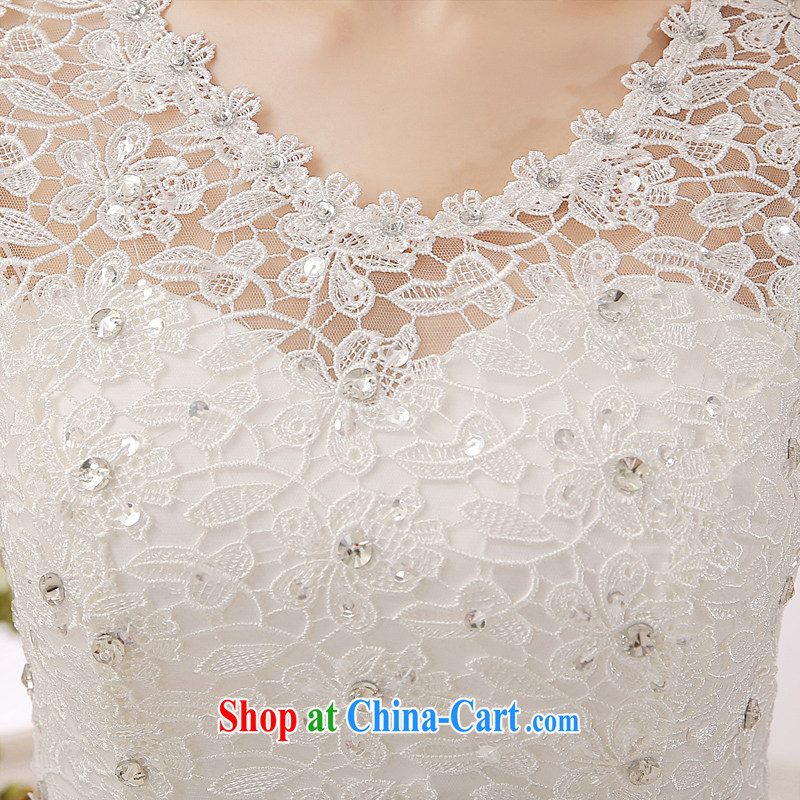 7-Color 7 tone Korean version 2015 new paragraph to align with the Code graphics thin retro Palace lace hunsha wedding dresses H 023 white M, 7 color 7 tone, shopping on the Internet