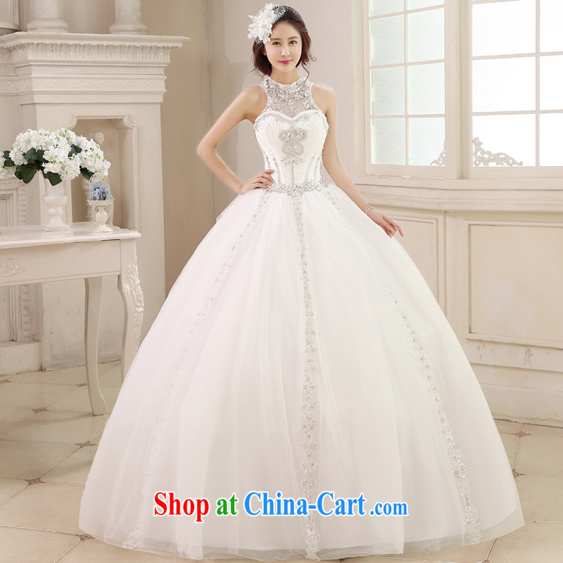 Honeymoon bridal 2015 spring and summer new wedding Korean version is also wedding to manually insert drill with shaggy white XL
