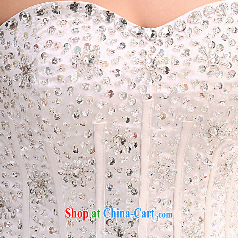 Honeymoon bridal 2015 tail wedding Korean sweet princess, erase chest wedding tie-tail, white XL, Honeymoon bridal, shopping on the Internet