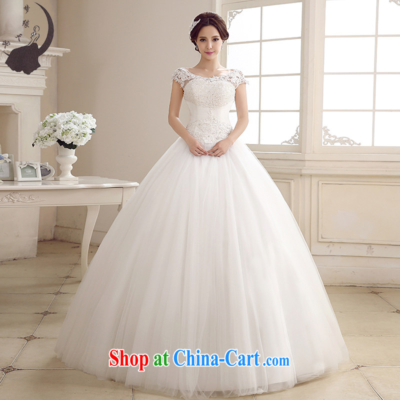 Dream Of Days bridal wedding dresses 2015 summer new lace a shoulder with Japan and South Korea wedding dress 1730 white XXL 2.3 feet waist