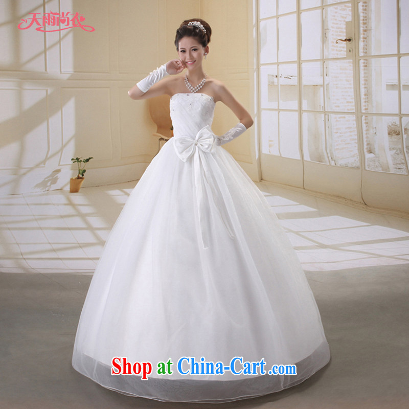 Rain is still Yi marriages new wedding Korean-style wedding high quality parquet drill Princess Mary Magdalene chest wedding with wedding HS 801 white XL