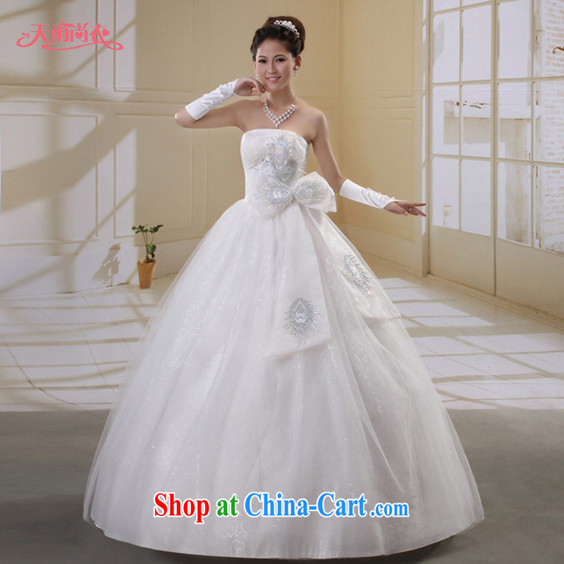 Rain is still clothing bridal wedding dresses 2015 new Korean-style flash wedding wiped his chest, wedding HS 834 white XL