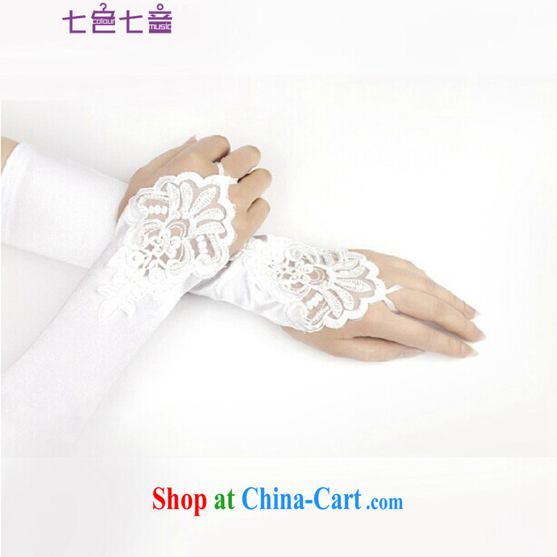 7 color 7 tone wedding gloves Long White, lace bridal gloves wedding terrace staple the Pearl Diamond Wedding gloves S 002 white are code