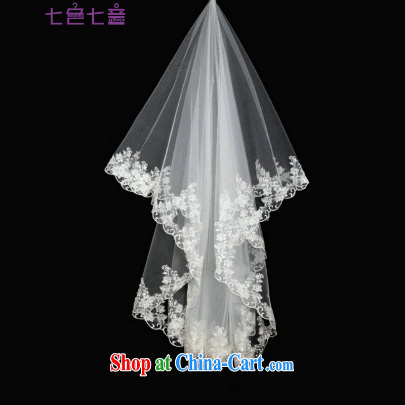 7-Color 7 tone bridal tail wedding and legal wedding accessories white head-dress and the wedding and yarn 1.5 M T 002 white are code