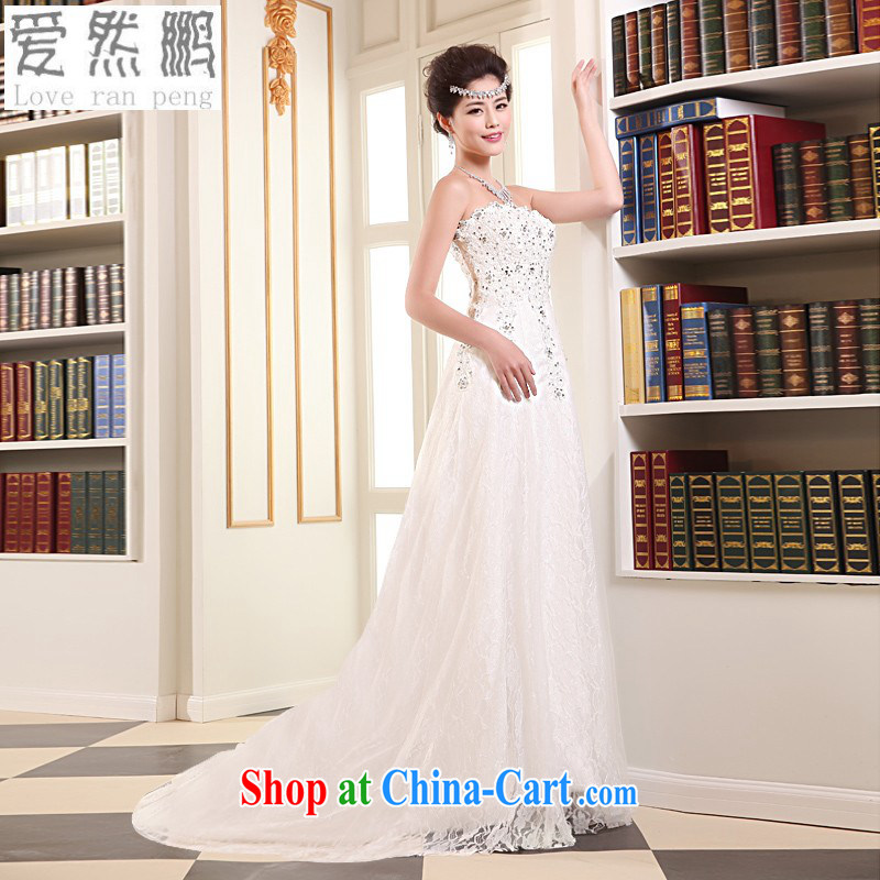 Love, Norman and simple small-tail wedding dresses 2014 new summer Korean version and stylish bride's bare chest straps at Merlion wedding Customer to size the Do not be returned.