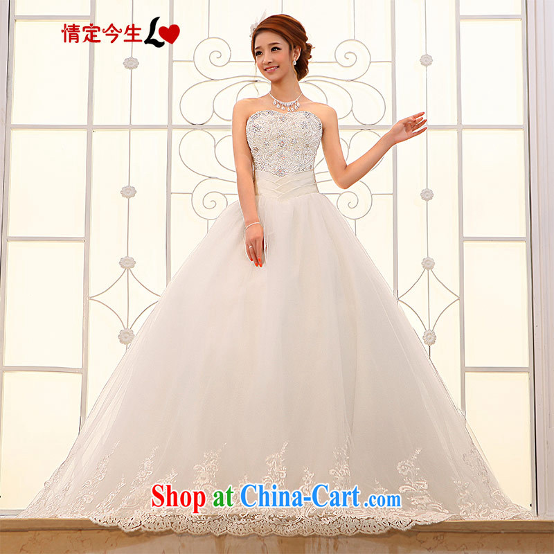 Love Life 2015 new wedding dresses Korean version with Princess Mary Magdalene chest strap inserts drill brides and tail white XXL