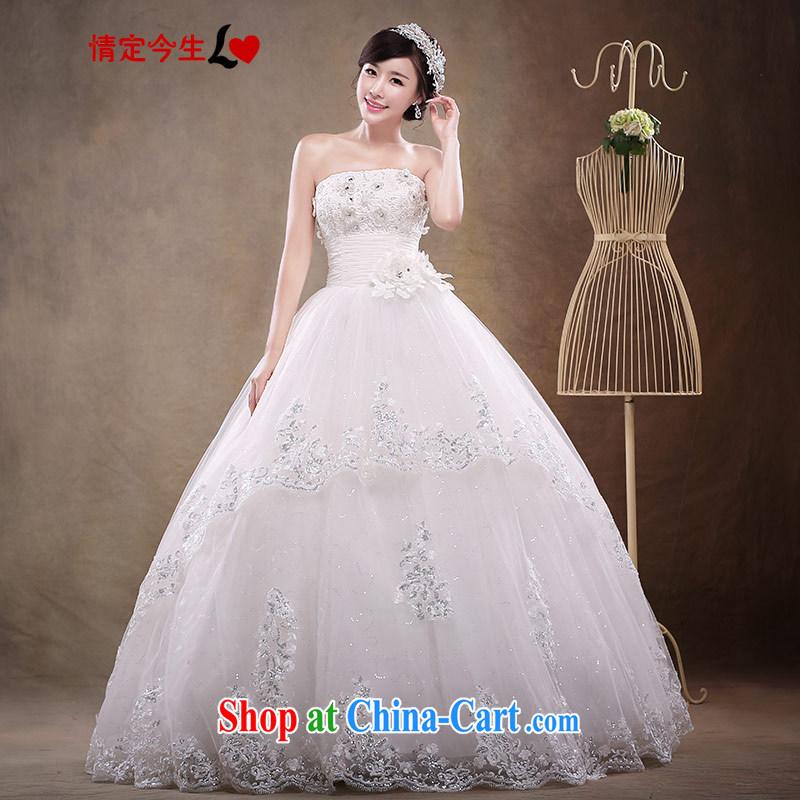 Love Life wedding dresses new, summer 2015 Korean bridal white beauty with bare chest sweet European root yarn A field dress wedding dress girls white XXL