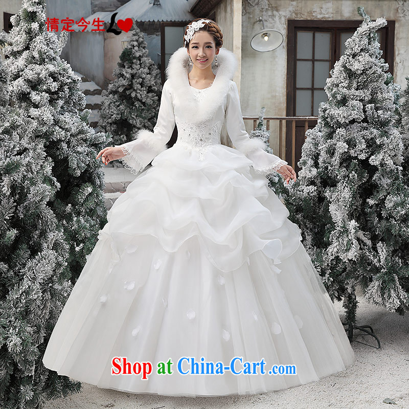 Love Life wedding dresses new 2015 erase chest Korean white winter marriages with wedding dress girls white XXL