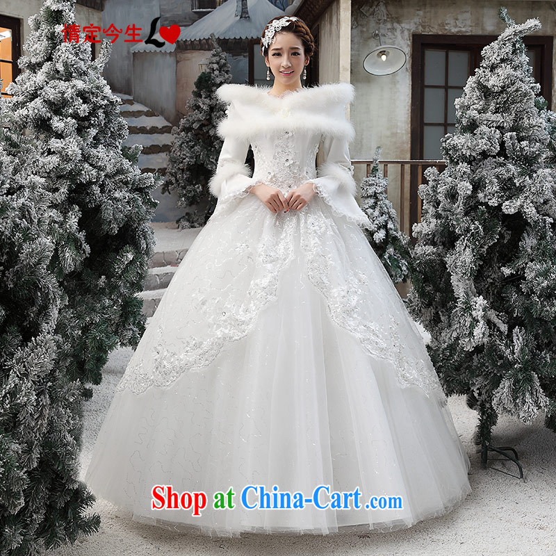 Love Life wedding dresses new 2015 erase chest Korean white winter Korean marriages and with white XXL