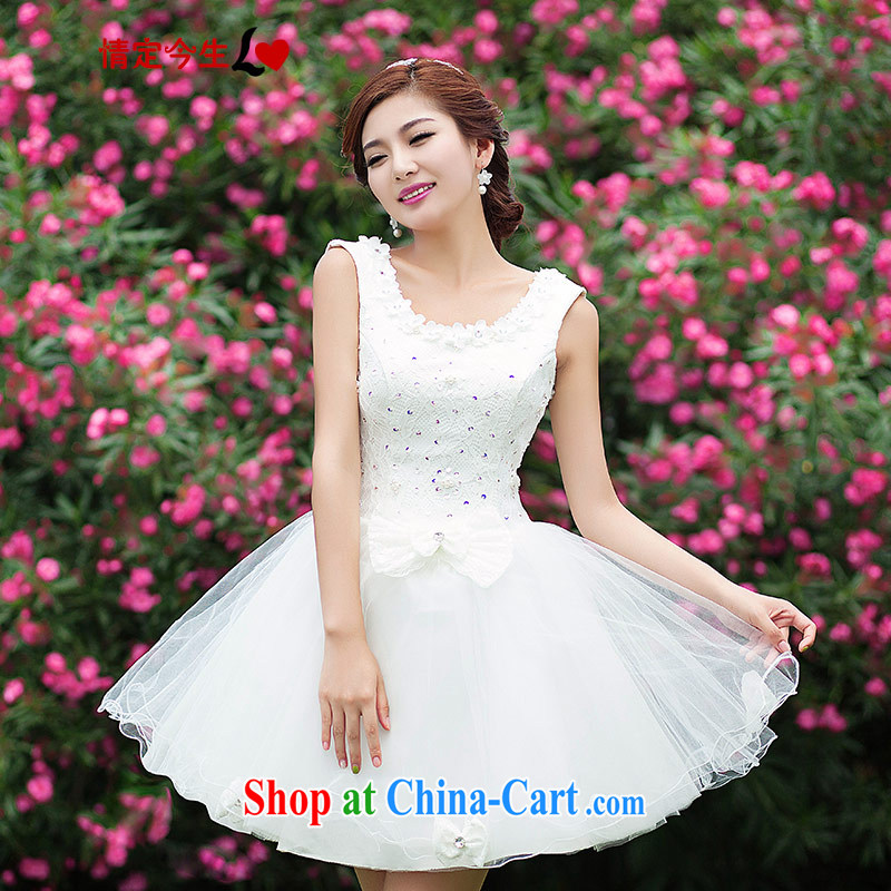 Love Life short wedding dresses 2015 New Evening Dress bridesmaid lace bridal shoulders dress a Field shoulder white wedding dress girls white XXL