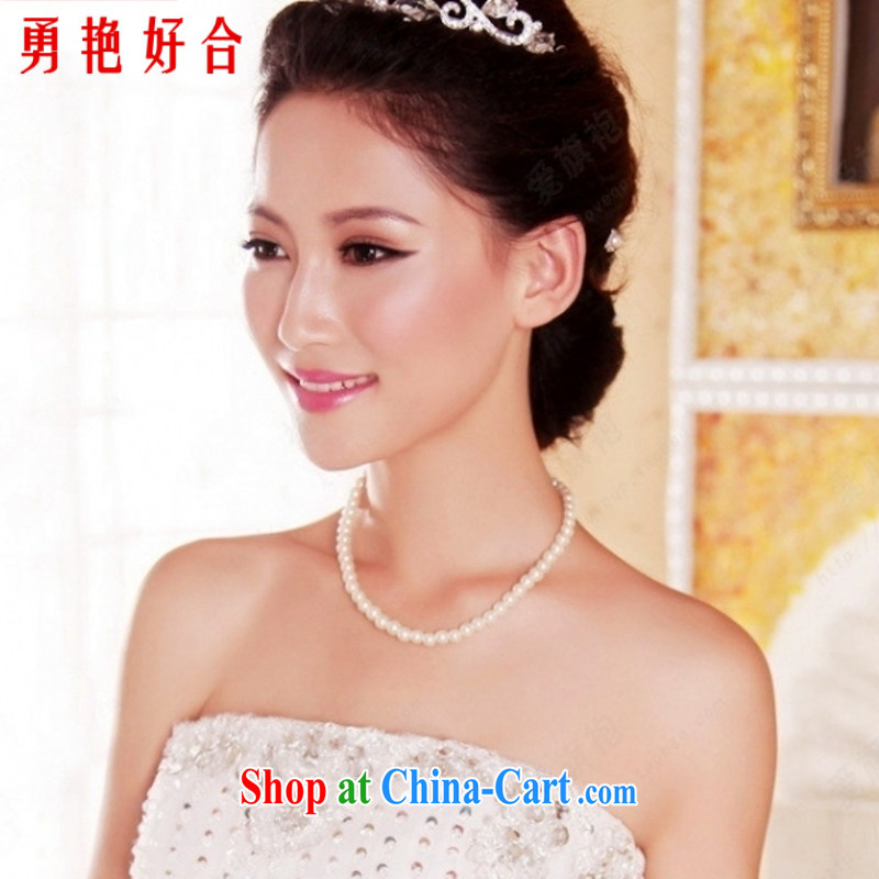 Yong-yan and wedding dresses accessories pearl necklace white white