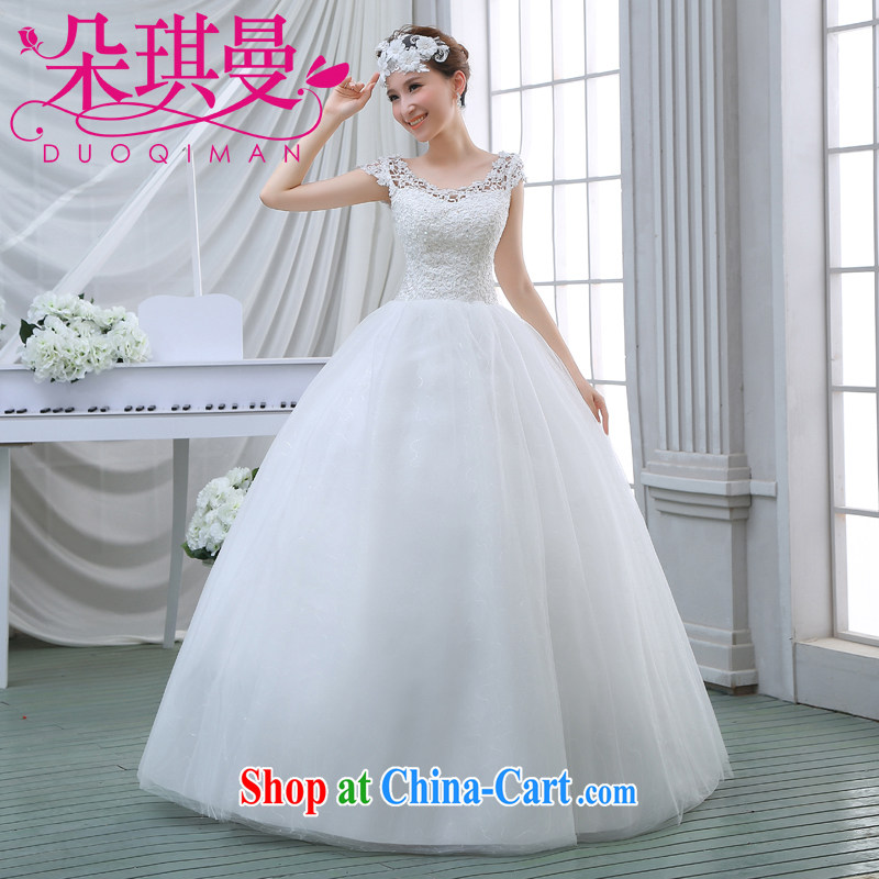 Flower Angel Cayman 2014 spring new lace shoulders with stylish wedding dresses Korean Beauty shaggy skirts XXL