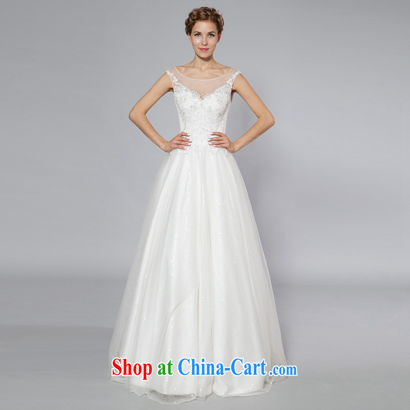 A yarn-back Pearl drill a field for wedding high quality graphics thin sexy shaggy dress wedding dresses custom 2015 summer 40141051 white XL code 30 days pre-sale