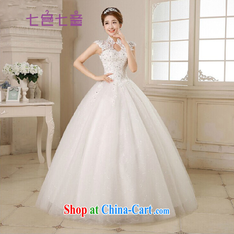 7 color 7 tone Korean version 2015 new stylish lace a field package shoulder wedding with bridal wedding dresses H 031 white XXL