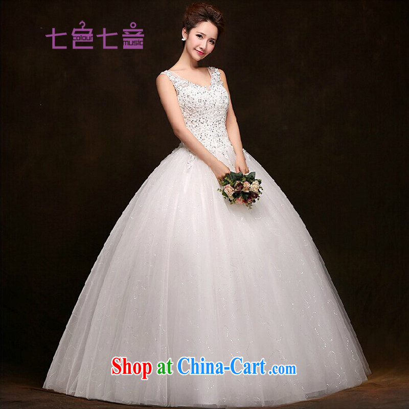 7 color 7 tone Korean version 2015 summer white bridal New with retro V style lace, wedding dresses H 032 white tailored (final)