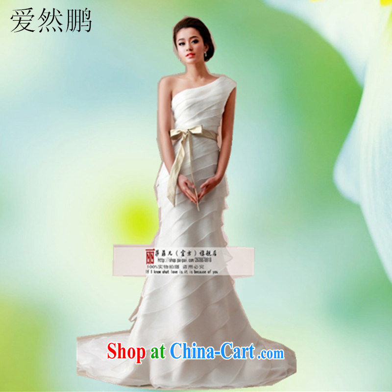 2014 new wedding dresses, shoulder-tail small crowsfoot graphics thin bridal wedding dresses customer size will not be returned.