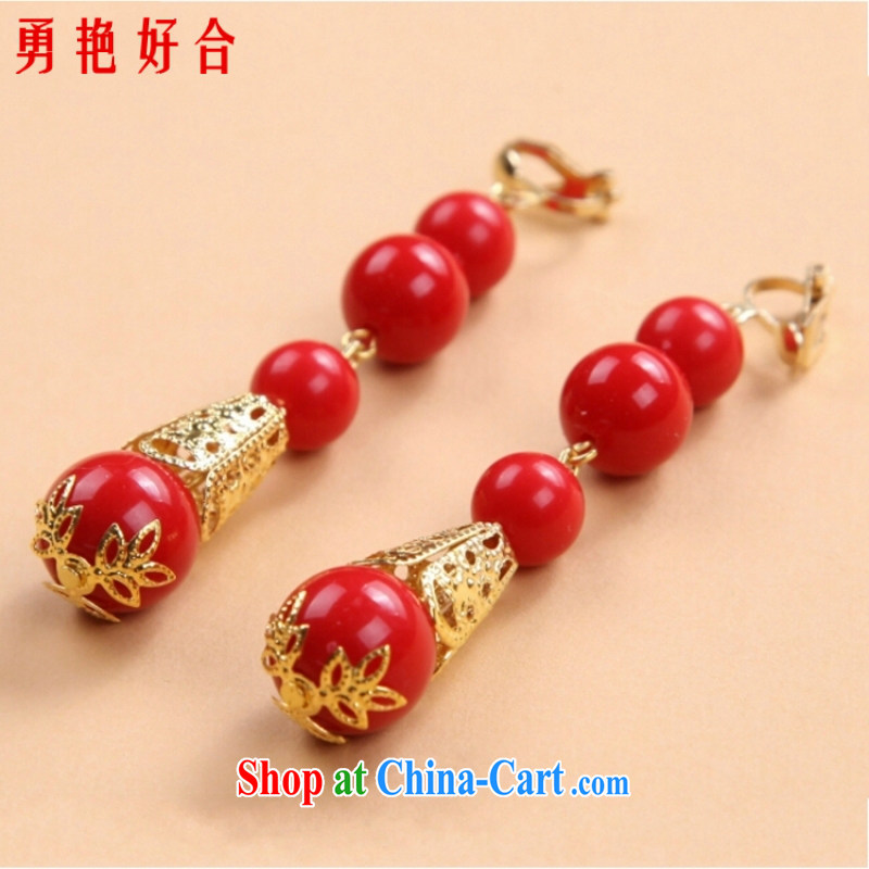 Bridal jewelry show reel with Phoenix and accessories Ear Ornaments Chinese red agate earrings cheongsam dress furnishings and ornaments red