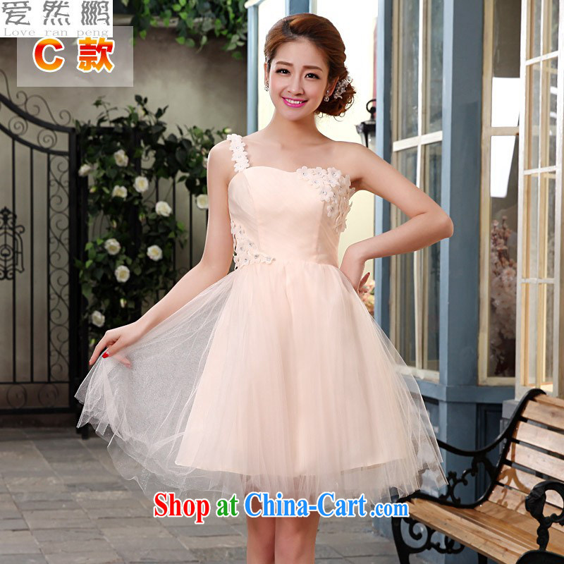 Love, Norman short bridesmaid's sister dress bridal wedding dress 2014 new lace Evening Dress bows small dress wedding dresses female C XL pieced
