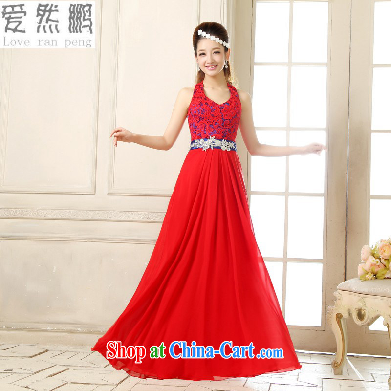 Love so Pang New Evening Dress red long wedding toast wedding Service Bridal bridesmaid short dual-shoulder beauty dresses female clients to size will not be returned.